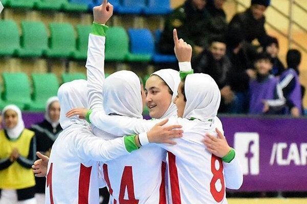 پیروزی 15 گُله تیم فوتسال زیر 20 سال دختران مقابل تاجیکستان