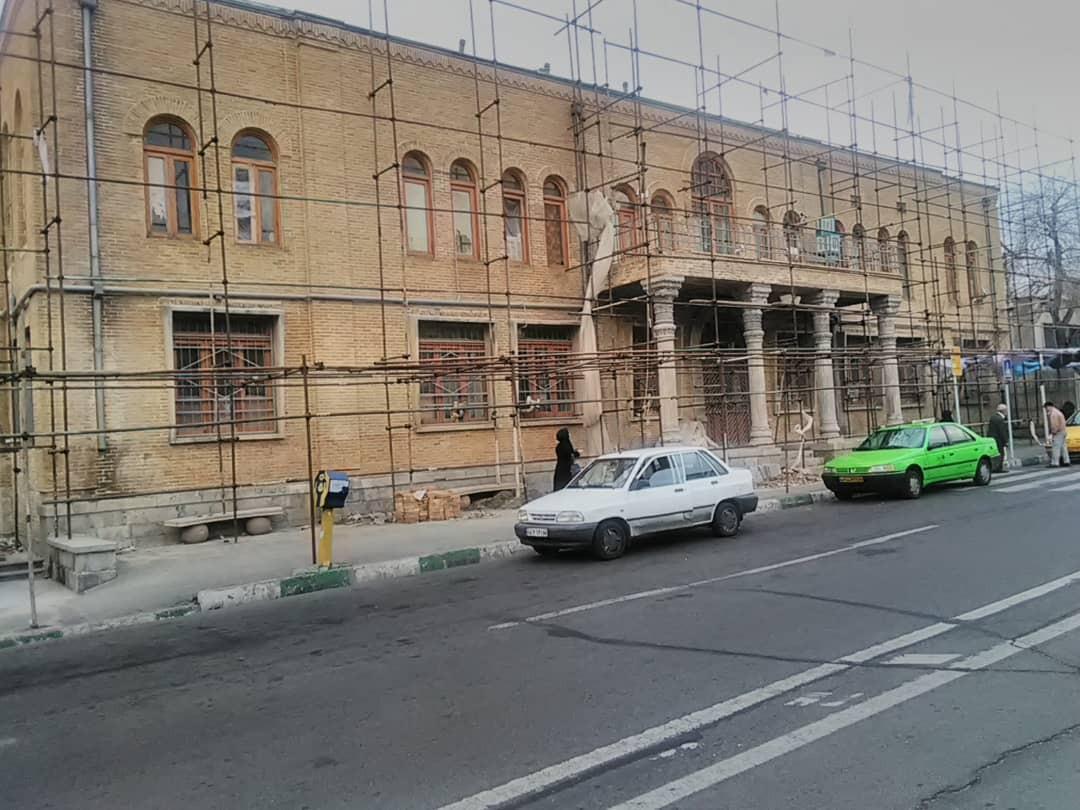 مرمت بنای تاریخی مهمانسرای دانشگاه امام علی (ع) درحصار ناصری به خاتمه رسید