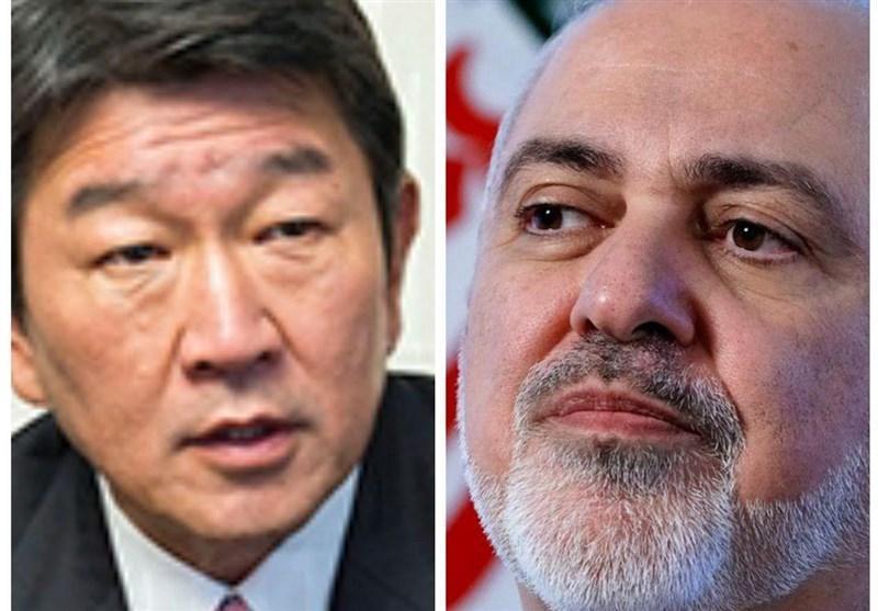 گفتگوی ظریف و همتای ژاپنی با موضوع مبارزه با کرونا و لغو تحریم های غیرقانونی آمریکا