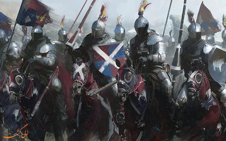 شوالیه ها، نمادی از جوانمردی قرون وسطی در اروپا
