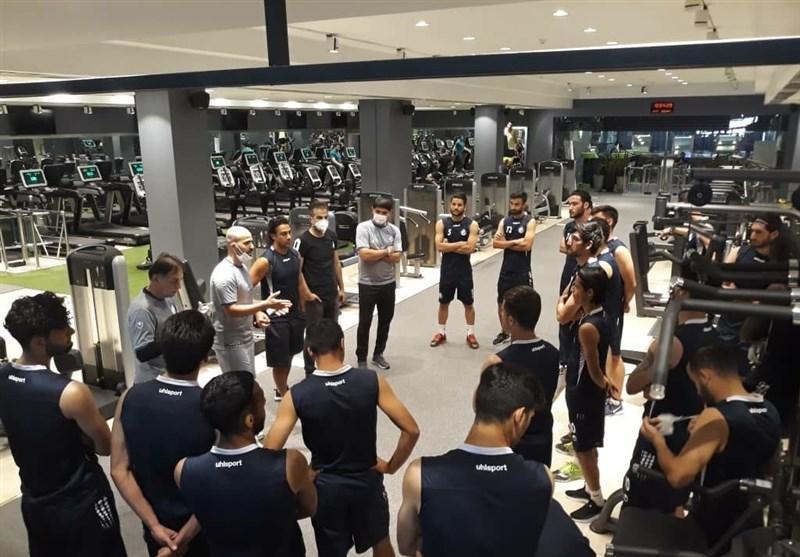 گزارش تمرین استقلال، صحبت های مجیدی با بازیکنان