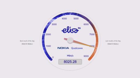 نوکیا، کوالکام و الیسا در 5G رکوردشکنی کردند: دانلود با سرعت 8 گیگابیت بر ثانیه