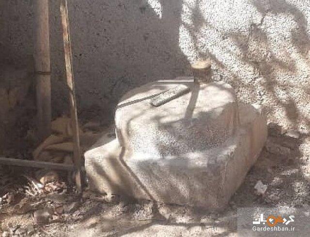 کشف ته ستون تاریخی از یک باغ در مرودشت