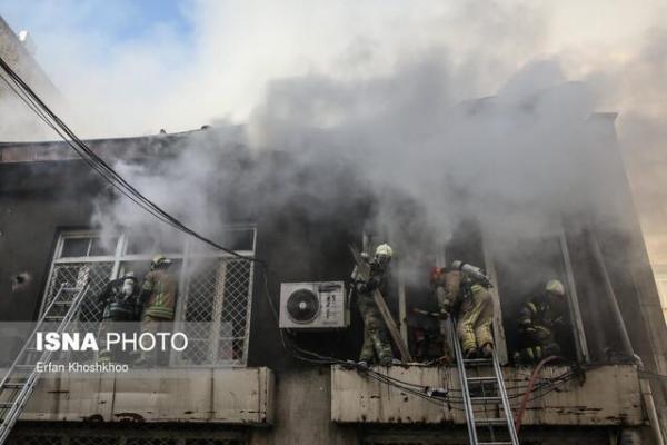 مصدومیت مرد 45 ساله در پی آتش سوزی یک واحد مسکونی در یاسوج