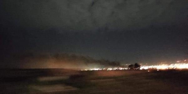 حمله پهپادی به پایگاه آمریکایی ها در اربیل