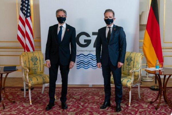 وزرای خارجه آمریکا و آلمان درباره ایران گفتگو کردند