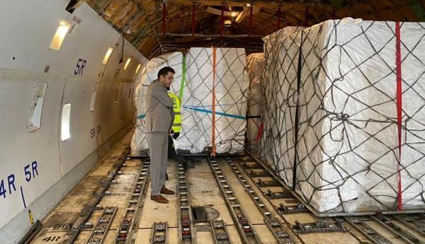 محموله 60 تنی تجهیزات ساخت واکسن کرونا به کشور وارد شد